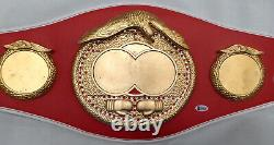 Floyd Mayweather Jr. Autographed IBF Full Size Belt (No Decals) Beckett 95797