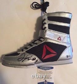 Floyd Mayweather Jr Autographed Reebok Boxing Shoe Beckett Witnessed COA