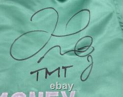 Floyd Mayweather Jr. Autographed Signed Green Boxing Trunks Tmt Beckett 159663