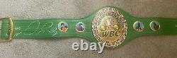 Floyd Mayweather Jr. Autographed Signed Green Wbc Full Size Belt Beckett Coa