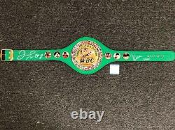 Floyd Mayweather Jr & Julio Cesar Chavez signed WBC Belt BAS COA Beckett Witness