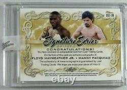 Floyd Mayweather Jr & Manny Pacquiao Signed Autograph 2020 Leaf Auto 1/1