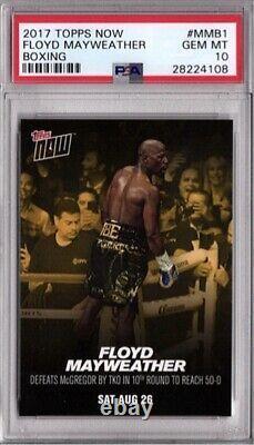 Floyd Mayweather Jr. PSA Gem-Mint 10! 2017 Topps Now Boxing #MMB1 POP 17