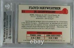 Floyd Mayweather Jr Rookie Rc 1997 Browns Boxing #51 Bgs 9 Mint