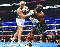 Floyd Mayweather Jr Signed Autographed vs McGregor 11x14 inch Photo PSA/DNA COA