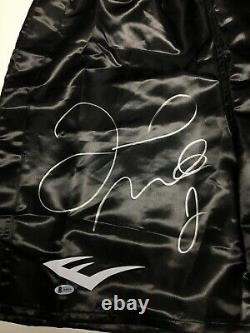 Floyd Mayweather Jr. Signed Black Everlast Boxing Trunks LARGE AUTO BAS I44519