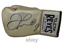 Floyd Mayweather Jr Signed Cleto Reyes Gold Left Hand Boxing Glove BAS 24963