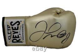 Floyd Mayweather Jr Signed Cleto Reyes Gold Right Hand Boxing Glove BAS 24962