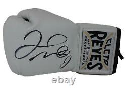 Floyd Mayweather Jr Signed Cleto Reyes White Left Hand Boxing Glove BAS 24968