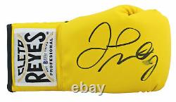 Floyd Mayweather Jr. Signed Cleto Reyes Yellow Boxing Glove BAS Witness #P29582
