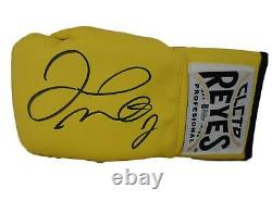 Floyd Mayweather Jr Signed Cleto Reyes Yellow Left Hand Boxing Glove BAS 24961