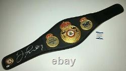 Floyd Mayweather Jr. Signed Full Size The Money Team World Champion Belt BAS