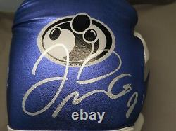 Floyd Mayweather Jr. Signed Grant Boxing Glove Auto Beckett Witnessed COA 1B