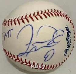 Floyd Mayweather Jr. Signed Rawlings Oml Baseball Tmt Jsa Full Letter Coa