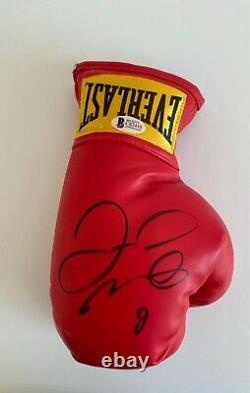 Floyd Mayweather Jr Signed Red Everlast Mayweather Boxing Glove BAS C82410