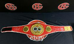 Floyd Mayweather Jr. Signed Replica Red TBE Full Size Belt Autographed BAS