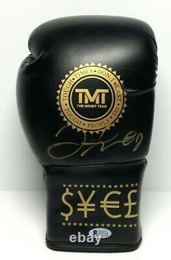 Floyd Mayweather Jr Signed The Money Team Boxing Glove TMT BAS J05734