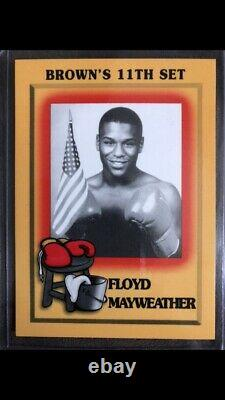 Floyd Mayweather Rookie Card Browns 11th Set #51 MINT