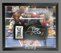 Floyd Mayweather Signed Black Boxing Glove Presented In A Dome Frame A