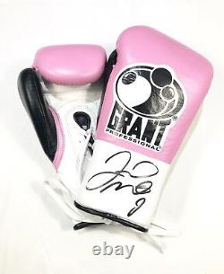 Floyd Mayweather Signed Boxing Glove Private Signing Photo Proof In Display Case