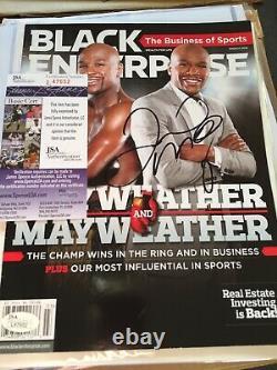 Floyd Mayweather Signed Boxing Magazine Program JSA Authentic RARE