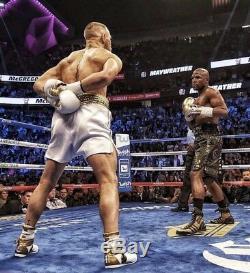 Floyd Mayweather Signed Boxing Trunks Shorts V Conor Mcgregor COA Photo Proof