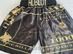 Floyd Mayweather Signed Boxing Trunks V Conor Mcgregor With Coa