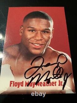 Floyd Mayweather Signed Browns 13th Set Bonus Boxing Card 2001