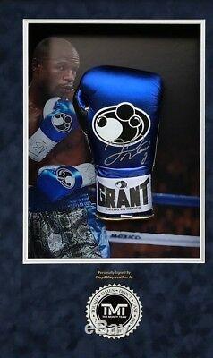 Floyd Mayweather Signed & FRAMED Boxing GLOVE CANELO TBE TMT AFTAL COA (E)