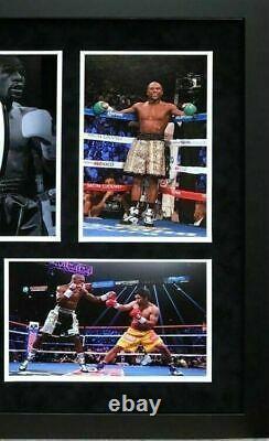 Floyd Mayweather Signed & FRAMED Boxing GLOVE REYES TBE TMT AFTAL COA (J)