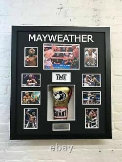 Floyd Mayweather Signed & FRAMED Boxing GLOVE TBE TMT AFTAL COA (A)