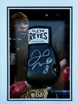 Floyd Mayweather Signed & FRAMED Boxing GLOVE TBE TMT AFTAL COA (D)