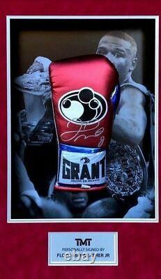 Floyd Mayweather Signed & FRAMED Boxing GLOVE TBE TMT AFTAL COA (FTO)