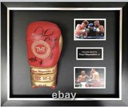 Floyd Mayweather Signed & FRAMED Boxing GLOVE TBE TMT COA