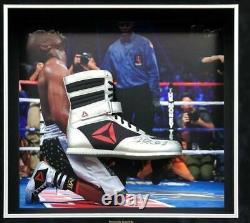Floyd Mayweather Signed & FRAMED TMT Reebok Boxing Boot EXACT Proof AFTAL COA