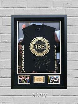 Floyd Mayweather Signed & FRAMED TMT VEST EXACT Proof AFTAL COA (B)