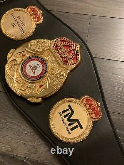 Floyd Mayweather Signed FULL SIZE Boxing Belt Autograph Inscription TBE. Beckett