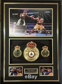 Floyd Mayweather Signed Framed FULL SIZE Boxing Belt Autograph Signed TMT