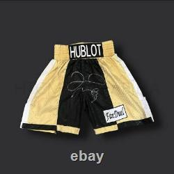 Floyd Mayweather Signed Gold Boxing Shorts