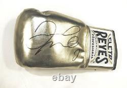 Floyd Mayweather Signed Reyes Boxing Glove Las Vegas Signing Photo Proof