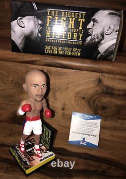 Floyd Mayweather Signed Vs McGregor Bobblehead Boxing BAS Beckett Witness COA