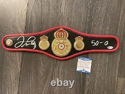 Floyd Mayweather Signed WBA Mini Belt With Inscription Beckett Witnessed COA