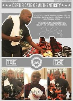 Floyd Mayweather TMT Signed Glove $£¥ Photo Proof Private Signing TMT C. O. A