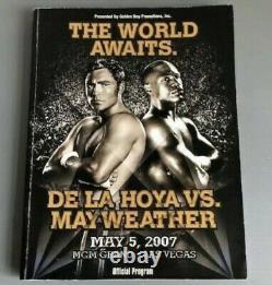 Floyd Mayweather Vs Oscar De La Hoya SIGNED Onsite Programme + ACCESORIES