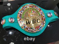 Floyd Mayweather WBC WORLD CHAMPION Commemorative Boxing Belt + CASE-WBA, WBO, IBF