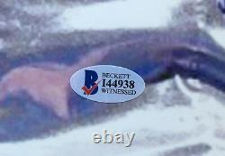 Floyd Mayweather signed 16x20 Victor Ortiz photo framed auto Beckett BAS COA