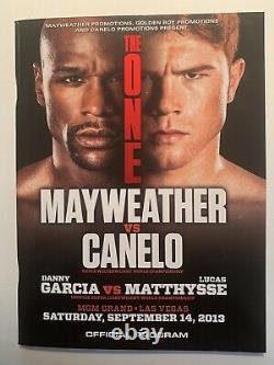 Floyd Mayweather vs. Canelo Alvarez 2013 Official Program