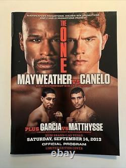 Floyd Mayweather vs Canelo Alvarez & Garcia-Matthysse Official 2013 Program RARE