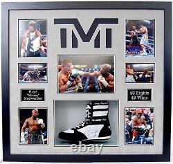 Floyd Money MAYWEATHER Signed & Framed Boxing Boot Display 2 AFTAL RD COA TMT