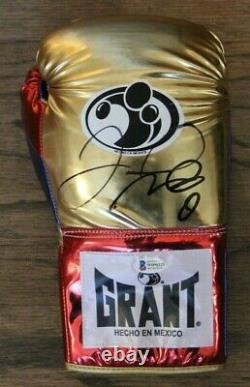 Floyd Money Mayweather Signed Auto Grant Boxing Glove Bas Witnessed #wd96223